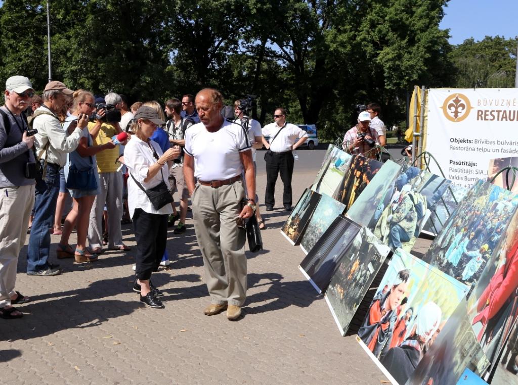 В митинге против АТО на Украине приняли участие несколько десятков человек