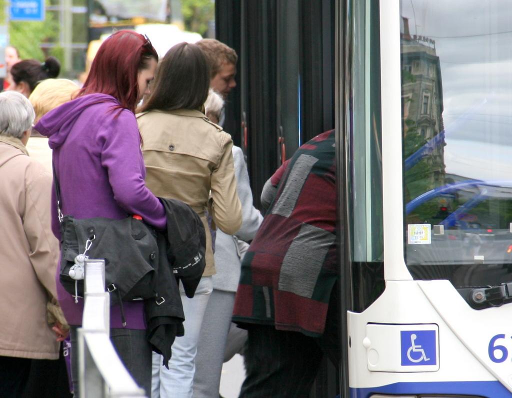 В рижском общественном транспорте в 2014-м перевезено 150,5 млн пассажиров
