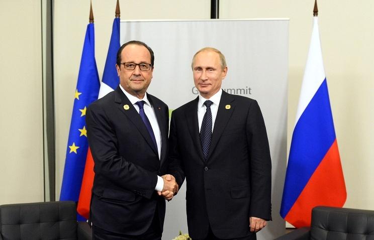 Путин оценил визит Олланда в Москву