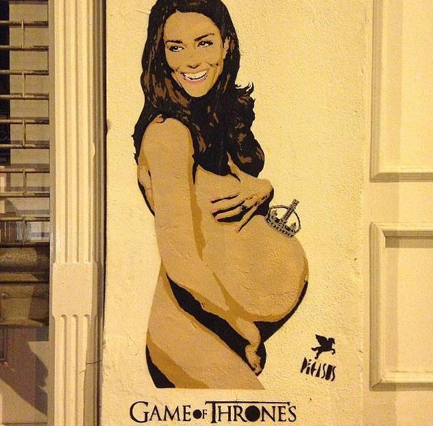 Джонни Депп купил граффити обнаженной Кейт Миддлтон