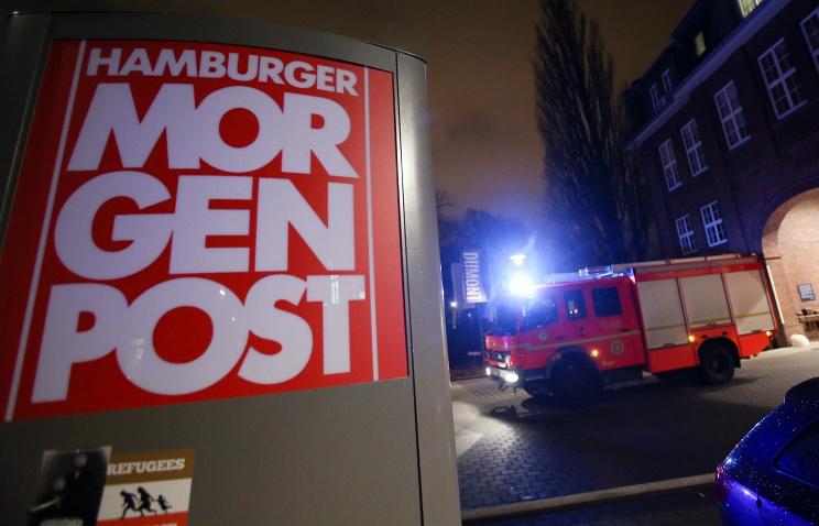 В Германии подожгли здание газеты, перепечатавшей карикатуры Charlie Hebdo