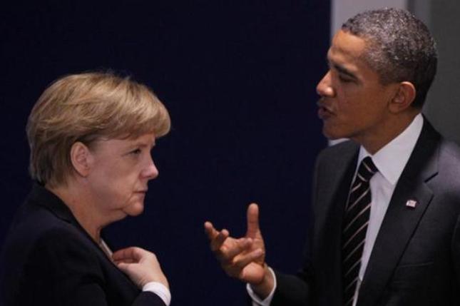 Обама и Меркель договорились усилить давление на Россию