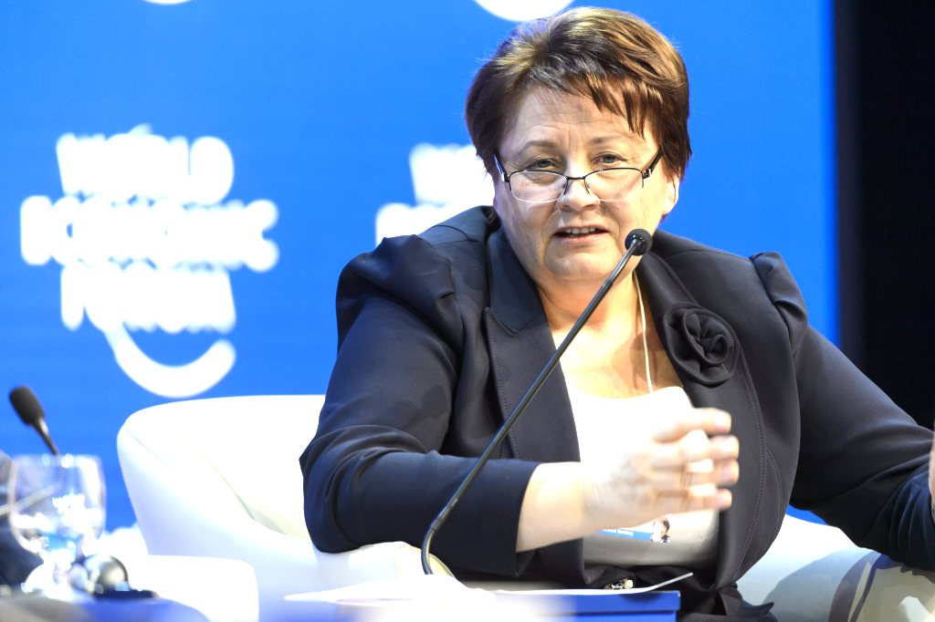 Страуюма пригласила организаторов форума в Давосе посетить Латвию