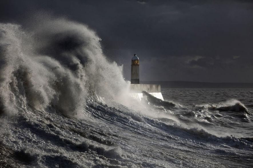 Буря парализовала работу Клайпедского порта